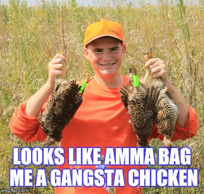 LOOKS LIKE AMMA BAG ME A GANGSTA CHICKEN | made w/ Imgflip meme maker