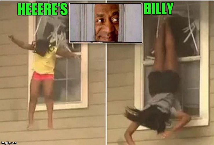 HEEERE'S BILLY | image tagged in run away | made w/ Imgflip meme maker