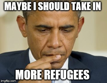 MAYBE I SHOULD TAKE IN MORE REFUGEES | made w/ Imgflip meme maker