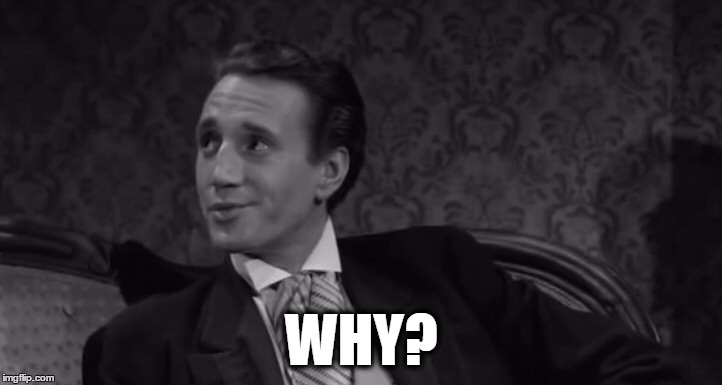 Roy Scheider | WHY? | image tagged in roy scheider | made w/ Imgflip meme maker