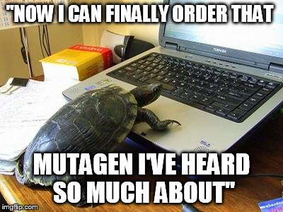 "turtle power |  ""NOW I CAN FINALLY ORDER THAT; MUTAGEN I'VE HEARD SO MUCH ABOUT"" 