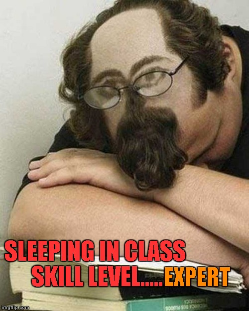 I gotta admit, that's the best idea I've seen for sleeping in class. | SLEEPING IN CLASS SKILL LEVEL..... EXPERT | image tagged in sleeping in class,memes,funny haircut,funny,catching zzz's | made w/ Imgflip meme maker