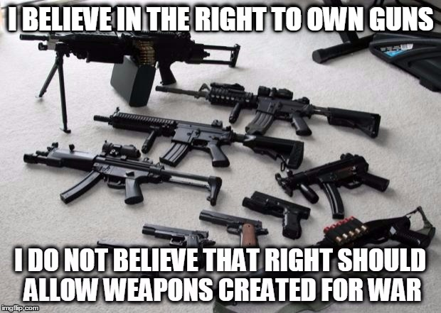 I BELIEVE IN THE RIGHT TO OWN GUNS | made w/ Imgflip meme maker