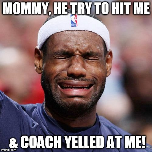 Lebron James Crying Meme Generator - Imgflip