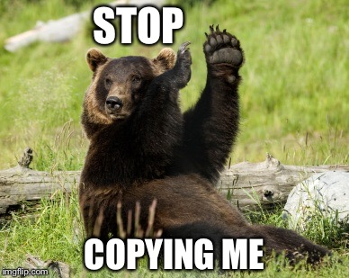 STOP COPYING ME | made w/ Imgflip meme maker