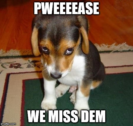 PWEEEEASE WE MISS DEM | made w/ Imgflip meme maker