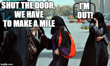 SHUT THE DOOR, WE HAVE TO MAKE A MILE I'M OUT! | made w/ Imgflip meme maker