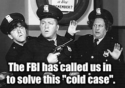 "The FBI has called us in to solve this ""cold case"". 