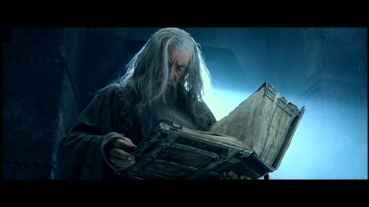 High Quality Gandalf reading Book of Thorin Blank Meme Template