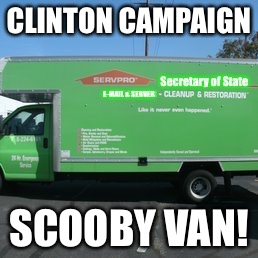 Like it never even happened! | CLINTON CAMPAIGN SCOOBY VAN! | image tagged in meme,drsarcasm,clinton,e-mails,server,servepro | made w/ Imgflip meme maker