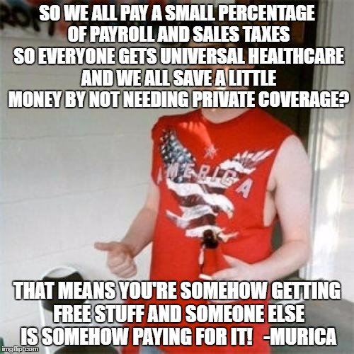 Everyone Paying A Share = You Get Free Stuff And Someone