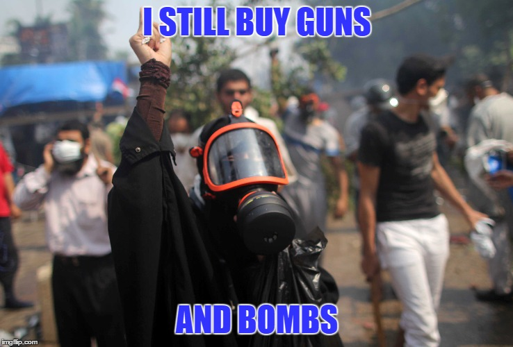 I STILL BUY GUNS AND BOMBS | made w/ Imgflip meme maker