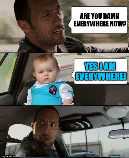 Funny Baby Meme Maker : The rock is tired of baby being everywhere imgflip