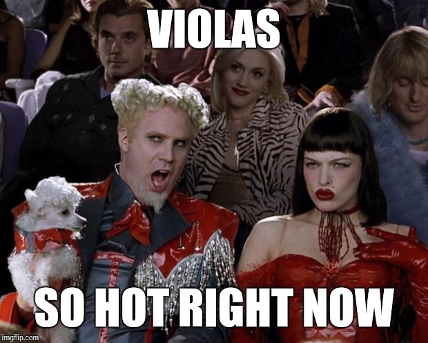 Violas so hot right now ;)  | VIOLAS SO HOT RIGHT NOW | image tagged in memes,mugatu so hot right now,violas,viola,music,thatbritishviolaguy | made w/ Imgflip meme maker