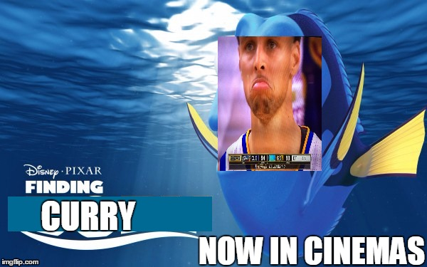 Finding Curry | NOW IN CINEMAS CURRY | image tagged in stephen curry,lebron james,nba finals,championship,flop | made w/ Imgflip meme maker
