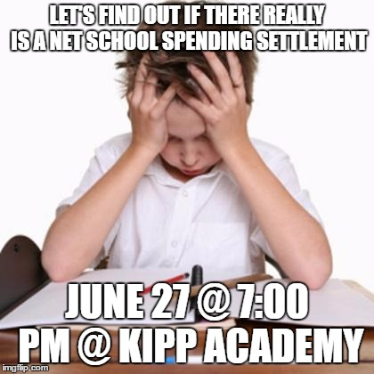WHERE'S MY MONEY? | LET'S FIND OUT IF THERE REALLY IS A NET SCHOOL SPENDING SETTLEMENT JUNE 27 @ 7:00 PM @ KIPP ACADEMY | image tagged in attention deficit disorder,school,mayor,net school spending | made w/ Imgflip meme maker