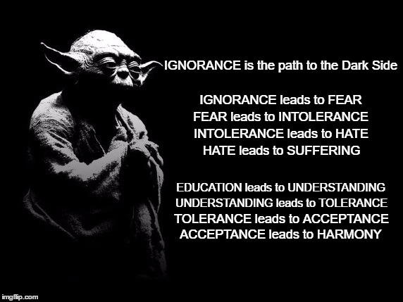 hate vs fear Before college, i voted conservative, hated gay people, loved america  that is  composed of a combination of ignorance, superstition and fear.