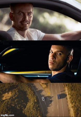 High Quality fast and furious 7 final scene Blank Meme Template