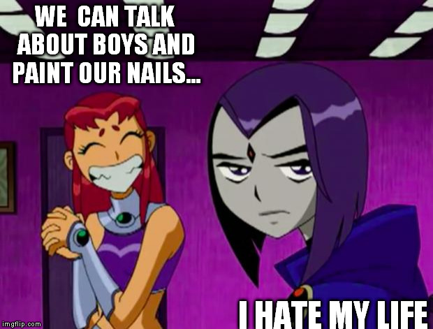 Pity, that Starfire teen titans captions