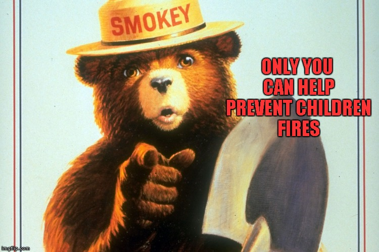 ONLY YOU CAN HELP PREVENT CHILDREN FIRES | made w/ Imgflip meme maker