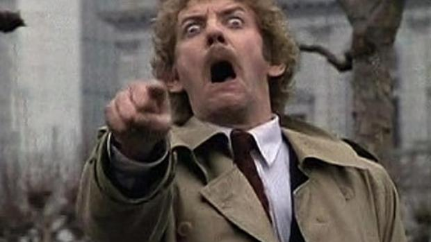 donald sutherland body snatchers point Blank Template - Imgflip