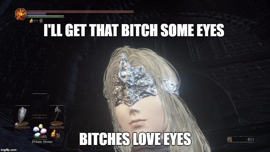 16g2oa spoilers] dark souls 3 firekeeper never saw this coming imgflip,Dark Souls 3 Memes