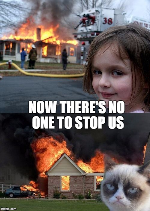 NOW THERE'S NO ONE TO STOP US | made w/ Imgflip meme maker