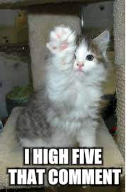 I HIGH FIVE THAT COMMENT | made w/ Imgflip meme maker