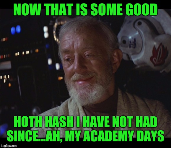 NOW THAT IS SOME GOOD HOTH HASH I HAVE NOT HAD SINCE...AH, MY ACADEMY DAYS | made w/ Imgflip meme maker