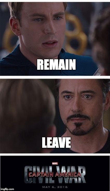 Marvel Brexit War - Im... Robert Downey