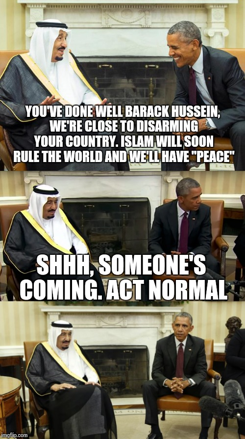 "Always two there are, a master and an apprentice | YOU'VE DONE WELL BARACK HUSSEIN, WE'RE CLOSE TO DISARMING YOUR COUNTRY. ISLAM WILL SOON RULE THE WORLD AND WE'LL HAVE ""PEACE"" SHHH, SOMEONE' 
