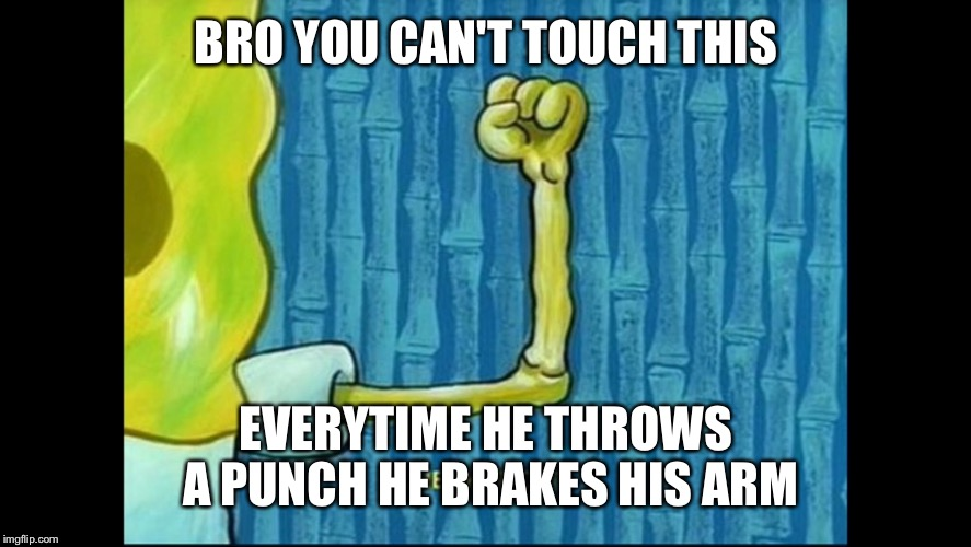 Image tagged in memes,spongebob,muscles,lol - Imgflip