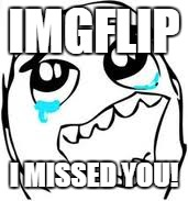 I've only been gone for a couple days and I felt like I was about to burst! | IMGFLIP I MISSED YOU! | image tagged in memes,tears of joy,template quest,vacation | made w/ Imgflip meme maker