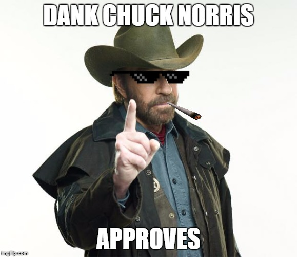 DANK CHUCK NORRIS APPROVES | made w/ Imgflip meme maker