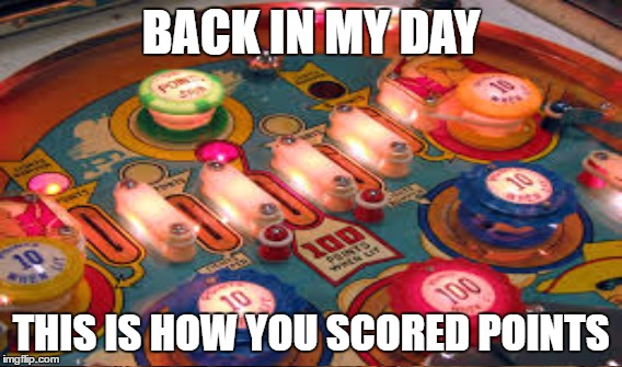 BACK IN MY DAY THIS IS HOW YOU SCORED POINTS | made w/ Imgflip meme maker