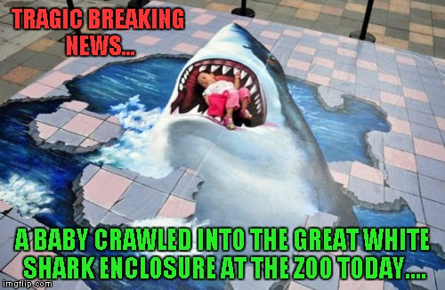"Fortunately, the shark did not harm him so it being ""erased"" was not required 