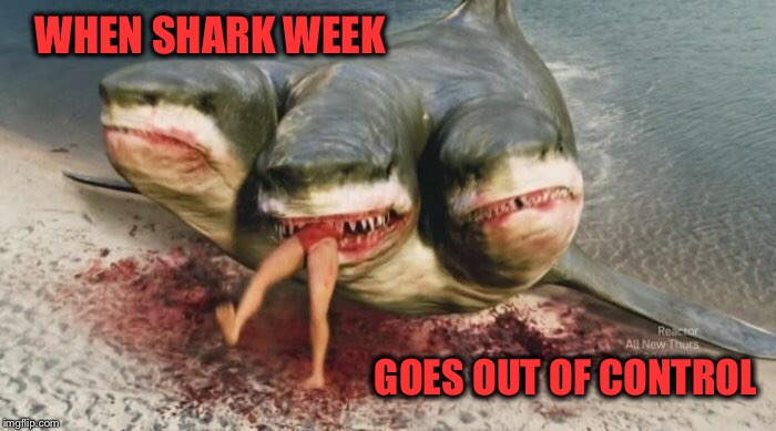 Can you top this? | WHEN SHARK WEEK GOES OUT OF CONTROL | image tagged in memes,funny,shark week,sharknado | made w/ Imgflip meme maker