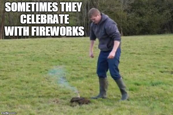 SOMETIMES THEY CELEBRATE WITH FIREWORKS | made w/ Imgflip meme maker