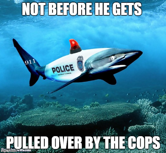 NOT BEFORE HE GETS PULLED OVER BY THE COPS | made w/ Imgflip meme maker