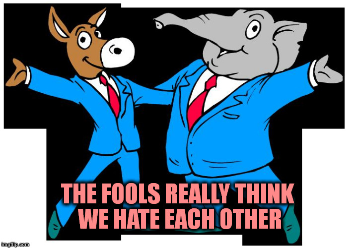 THE FOOLS REALLY THINK WE HATE EACH OTHER | made w/ Imgflip meme maker