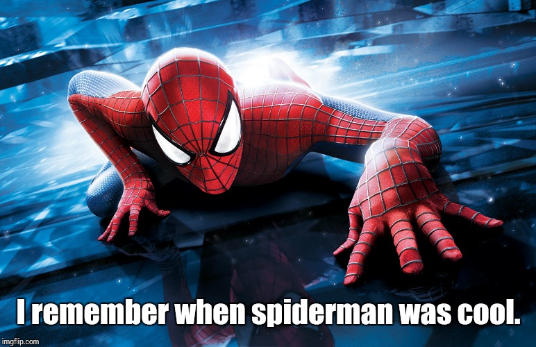 I remember when spiderman was cool. | image tagged in cool spiderman | made w/ Imgflip meme maker