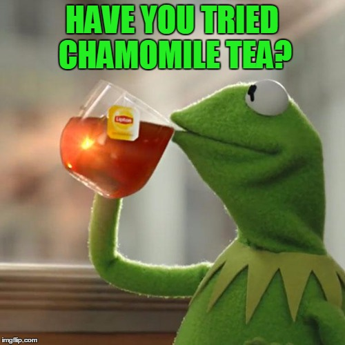 But Thats None Of My Business Meme | HAVE YOU TRIED CHAMOMILE TEA? | image tagged in memes,but thats none of my business,kermit the frog | made w/ Imgflip meme maker