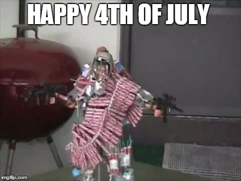 HAPPY 4TH OF JULY | image tagged in action figure lives matter | made w/ Imgflip meme maker