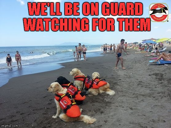 WE'LL BE ON GUARD WATCHING FOR THEM | made w/ Imgflip meme maker