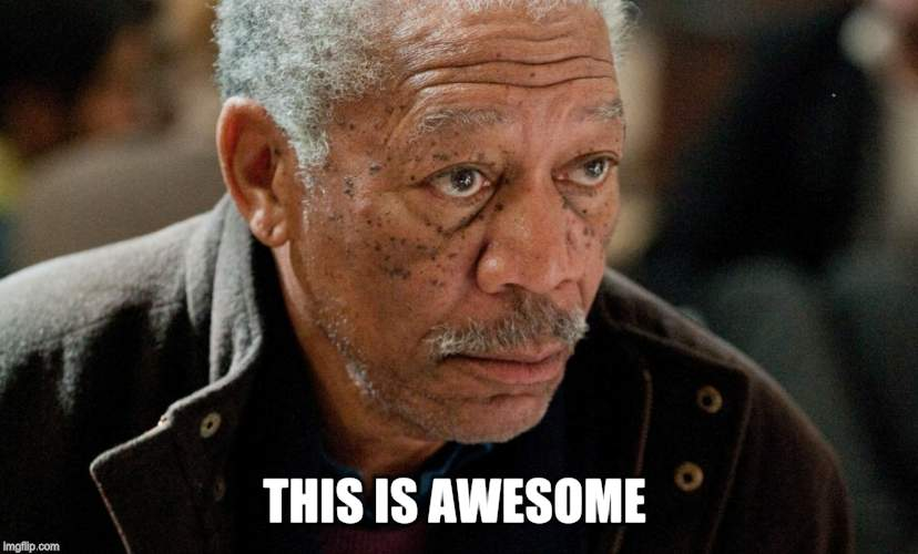 Morgan Freeman | THIS IS AWESOME | image tagged in morgan freeman | made w/ Imgflip meme maker