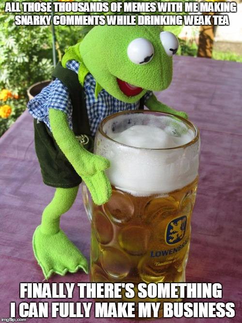 one drunken Kermit com...