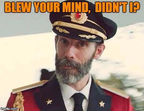 Captain Obvious | BLEW YOUR MIND,  DIDN'T I? | image tagged in captain obvious | made w/ Imgflip meme maker