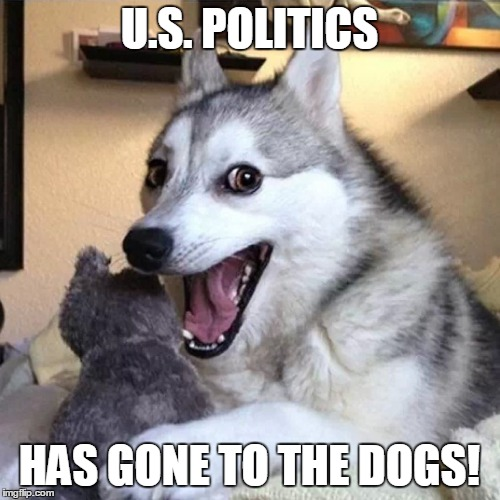 U.S. POLITICS HAS GONE TO THE DOGS! | made w/ Imgflip meme maker