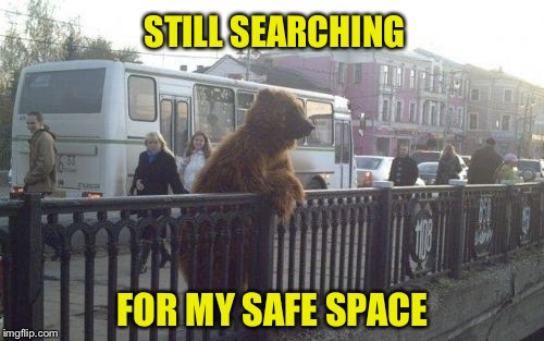 STILL SEARCHING FOR MY SAFE SPACE | made w/ Imgflip meme maker