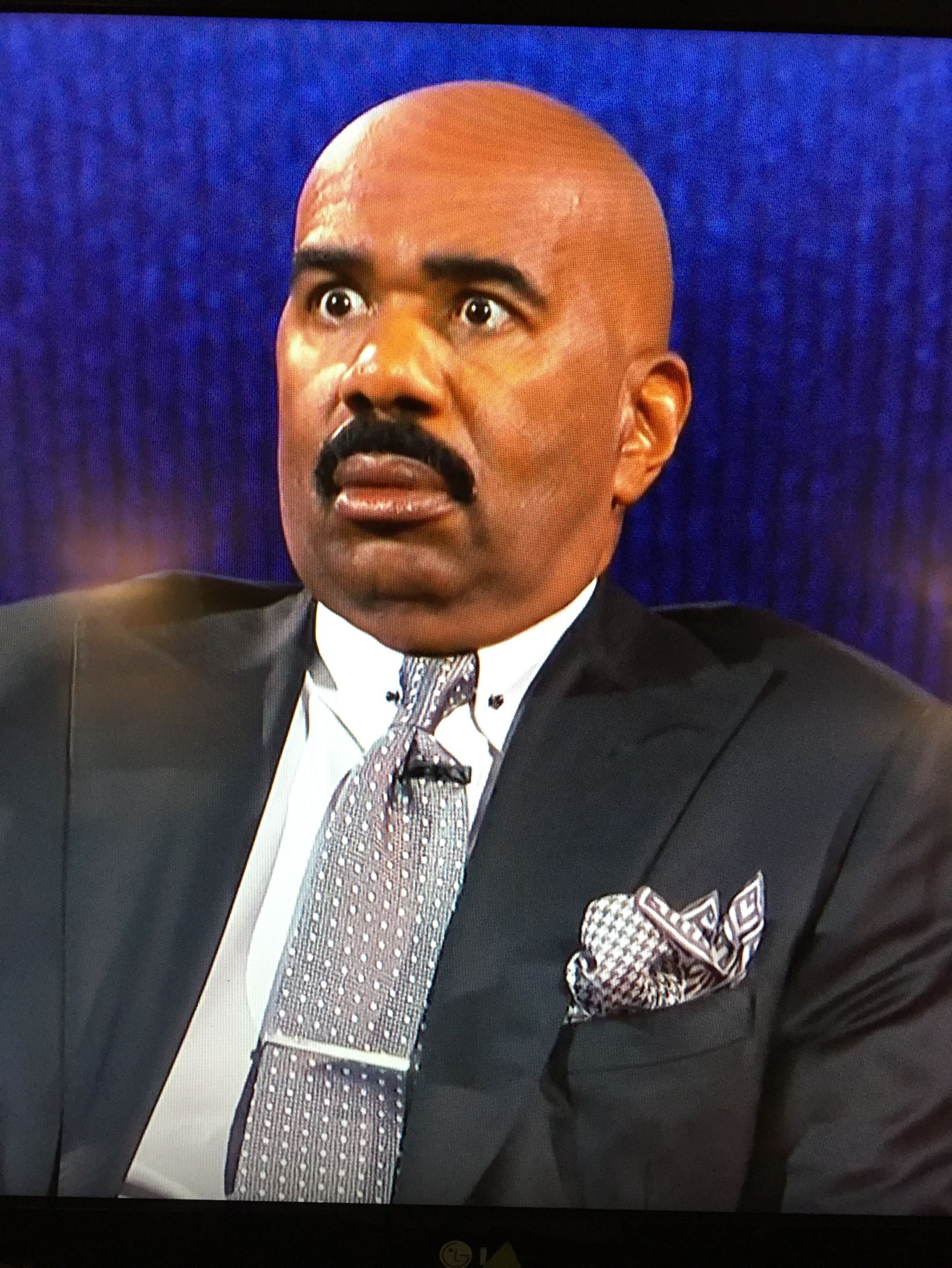High Quality Steve Harvey WTF Face Blank Meme Template
